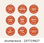 set of labels and stickers | Shutterstock .eps vector #237719827