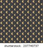 euro golden seamless pattern on ... | Shutterstock .eps vector #237740737