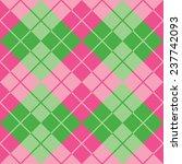 seamless argyle pattern in pink ... | Shutterstock .eps vector #237742093