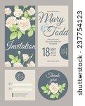 wedding card collection. vector ...   Shutterstock .eps vector #237754123