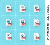 document icons. vector icon set ...