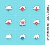 cloud computing icons. vector...