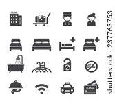 hotel icon   Shutterstock .eps vector #237763753