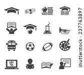 education icon set | Shutterstock .eps vector #237763897