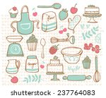 baking kitchen icons doodle... | Shutterstock .eps vector #237764083