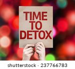 time to detox card with... | Shutterstock . vector #237766783