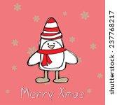 little christmas penguin.... | Shutterstock .eps vector #237768217