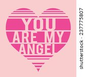 Love Angel Girl  Typography  T...