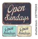 open sundays   Shutterstock .eps vector #237790243