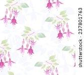 Fuchsia Flowers Seamless Flora...