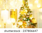 two champagne glasses on... | Shutterstock . vector #237806647