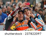 Постер, плакат: The three MotoGP champions