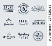 set of nine vintage yacht club... | Shutterstock .eps vector #237828163