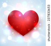 vector cute heart   Shutterstock .eps vector #237833653