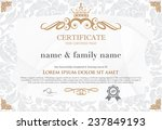 gold certificate template with... | Shutterstock .eps vector #237849193