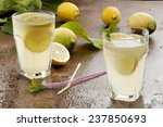 preparation of the lemonade... | Shutterstock . vector #237850693