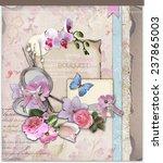 scrap booking design background   Shutterstock . vector #237865003
