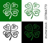 stylized celtic shamrock clover ...
