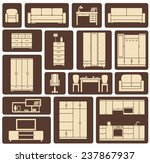 modern beige furniture and... | Shutterstock .eps vector #237867937