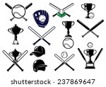 baseball sports equipment... | Shutterstock .eps vector #237869647