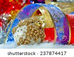 colorful christmas decorations | Shutterstock . vector #237874417