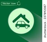 vector illustration of a garage  | Shutterstock .eps vector #237892087