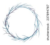 hand drawn vintage wreath.... | Shutterstock .eps vector #237894787