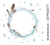 Stars And Feathers Wreath....