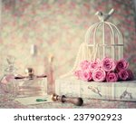 girly vintage still life | Shutterstock . vector #237902923