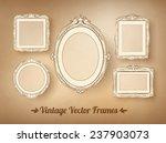 vintage baroque frames set.... | Shutterstock .eps vector #237903073
