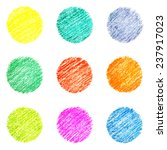 set of nine colorful circles ... | Shutterstock . vector #237917023