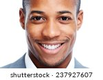 African American Man Close Up...