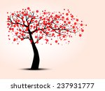 the silhouette of cherry trees | Shutterstock . vector #237931777