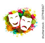 illustration comedy and tragedy ...   Shutterstock .eps vector #237948367