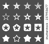Vector Set Of White Star Icons