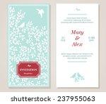 vector floral vintage... | Shutterstock .eps vector #237955063