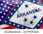 usa and arkansas state flag... | Shutterstock . vector #237959263