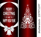 christmas card with a christmas ... | Shutterstock . vector #237971197