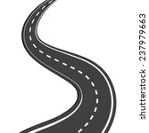 winding asphalt road with... | Shutterstock . vector #237979663