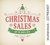 vintage after christmas sales... | Shutterstock .eps vector #237983407