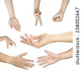 hand collage  gestures set...   Shutterstock . vector #238002667
