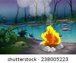 illustration of a campfire in a ... | Shutterstock .eps vector #238005223