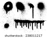 spray paint elements set 07 | Shutterstock .eps vector #238011217