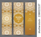 vintage ornate cards in eastern ... | Shutterstock .eps vector #238022137