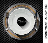Restaurant Menu Design. White...