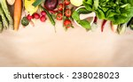 fresh vegetables on a brown... | Shutterstock . vector #238028023