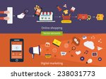 set of flat design vector...