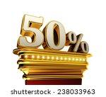 fifty percent figure on a... | Shutterstock . vector #238033963
