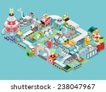 flat 3d isometric engineering... | Shutterstock .eps vector #238047967