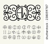 set  template letters to create ... | Shutterstock .eps vector #238059787